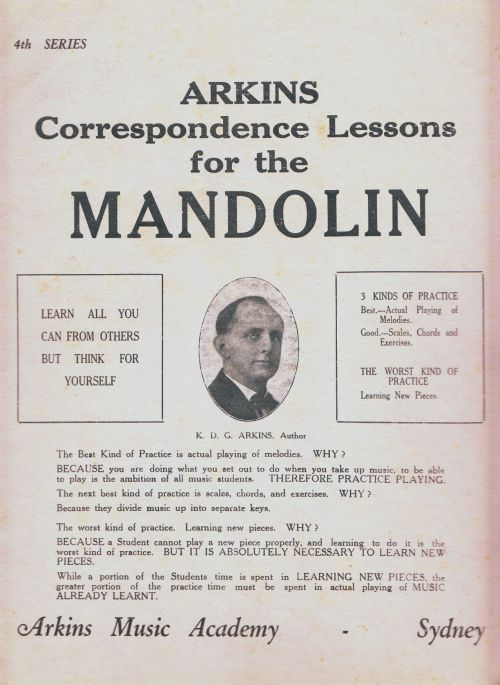 Arkins Correspondence Lesson for the Mandolin